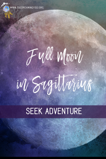 This Sagittarius full moon sparks our fiery, adventure seeking side. It encourages us to travel and expand our minds. Click article to find out more.