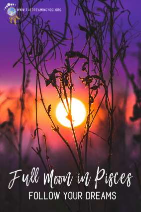 Have your dreams been more intense lately? This full moon in Pisces is likely the cause of that. Known as the Transcendent Dreamer this is a time to really notice what you're dreams are telling you...